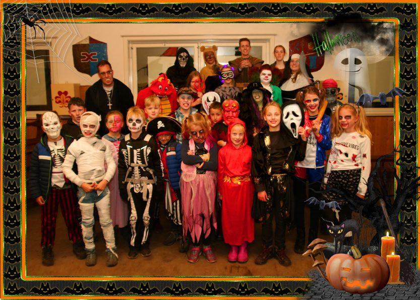 Halloween 2018 Teylersgroep Welpen Groepsfoto