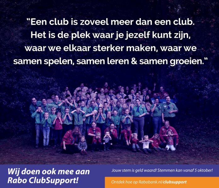 Teylersgroep Scouting Losser doet mee aan Rabo Clubsupport 2020