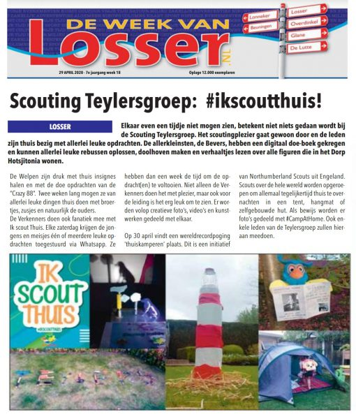 Week Van Losser - IkScoutThuis Teylersgroep Scouting 29 april 2020