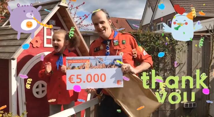 Uitreiking ING Actie Help Nederland Vooruit 2020 - Teylersgroep Scouting Losser