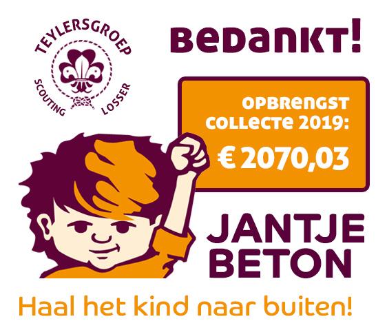 Opbrengst Jantje Beton Collecte 2019