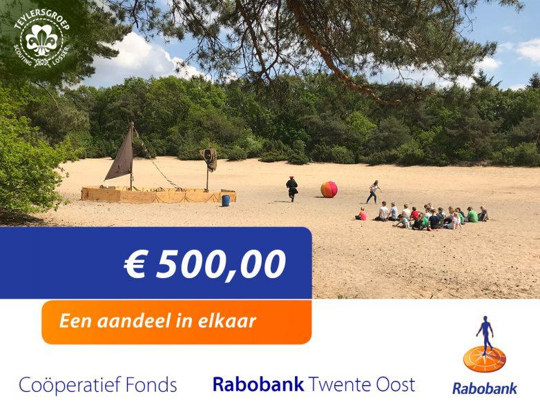 Donatie van Coöporatief Fonds Rabobank Twente Oost