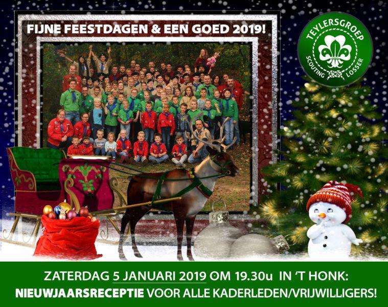 Kerstkaart 2018 Teylersgroep Scouting Losser