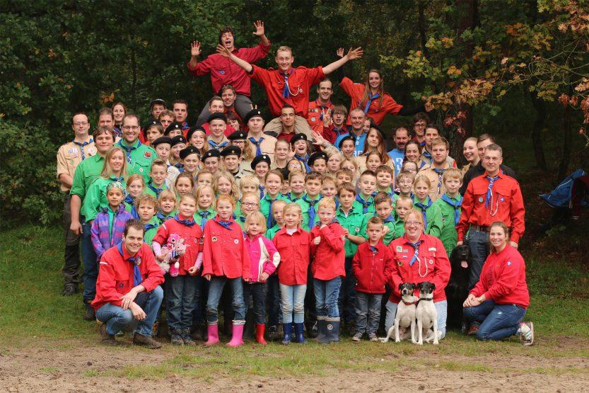 Teylersgroep Scoutinggroep Losser Groepsfoto