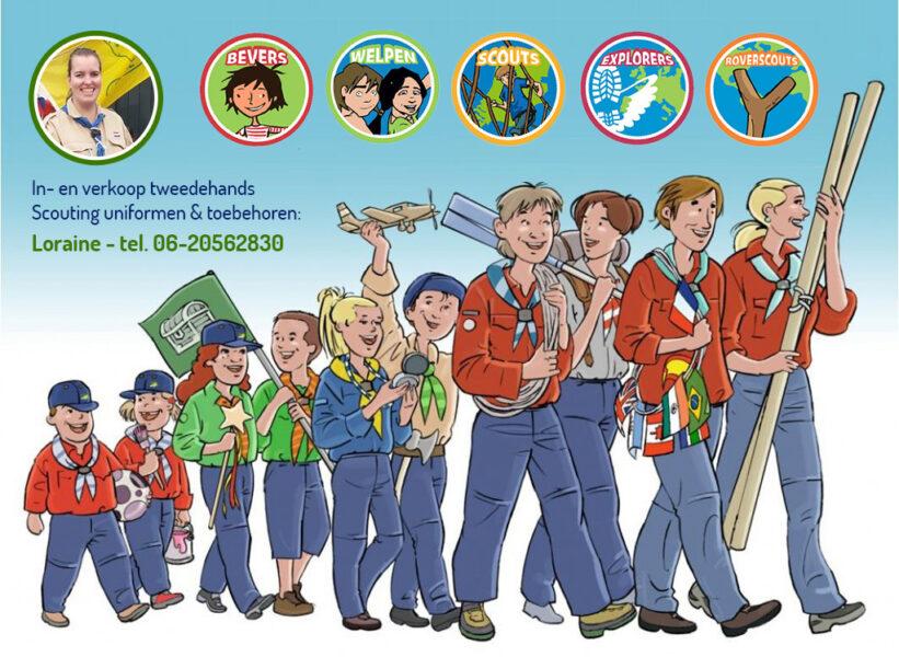 In- en verkoop tweedehands Scouting uniformen & toebehoren Teylersgroep Scouting Losser