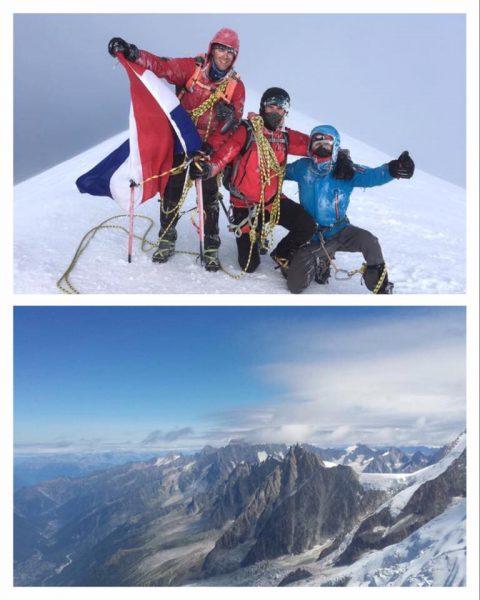 Wouter op de Mont Blanc